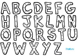 Английский алфавит раскраска для малыйшей