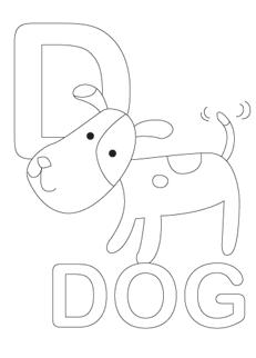 раскраска собаки на английском (2)