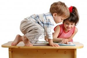 Малыши увлечены чтением