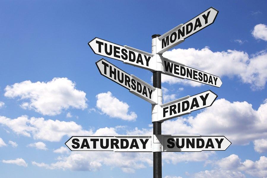 дни недели в английском