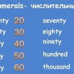 Вашему вниманию английские цифры с транскрипцией!