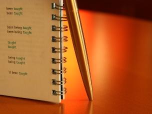 Ручка с блокнотом для записей